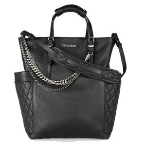 4522d8f3216 ... Jimmy Choo Blare Chain Quilted Leather Tote Bag ...